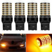 4x 7440 T20 3014 144SMD Fehlerfreie LED Auto Lampe Glühlampe Blinker Birne Gelb