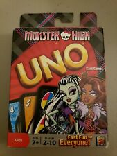 MONSTER HIGH UNO Card Game Kids Girls Clawdeen Draculaura Dolls NEW SEALED