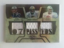 Tom Brady/ Drew Brees/ Tony Romo 2008 Topps Triple Threads 3-Jersey #13/15