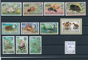 D129590 British Indian Ocean Territory Nice selection of MH stamps