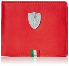 NEW OFFICIAL PUMA FERRARI MEN'S GENUINE LEATHER WALLET FAST SELL SHIPPING FREE!!