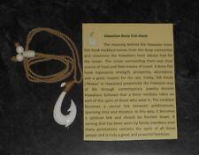 Hawaiian Bone Fish Hook Necklace - Maui's Hook