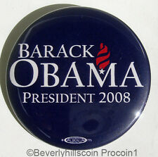 2008 Barack Obama for President Campaign Button pin Union Made