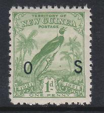 """NUOVA Guinea 1931 1D VERDE """"OS"""" opt. SG O31 MNH."""