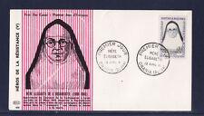 enveloppe 1er jour   résistance  mère Elisabeeth  Draria    1961
