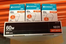 (8-Bulbs) 9W = 60W Equivalent 2700K Soft White A19 Non-Dimmable LED Light Bulb