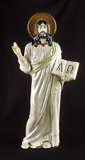 Russische Porzellanfigur 39 cm Heiligenfigur  Christus Jesus