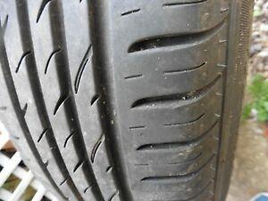 2 tyres Nexen 185 65 15 92T partworn on combo 5 stud wheels 2018 dot code