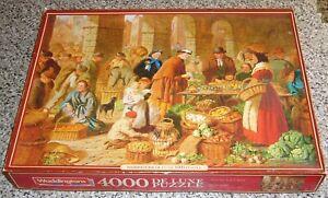 vintage 4000 Piece de-Luxe cardboard Jigsaw puzzle 'Market Day' Waddingtons rare