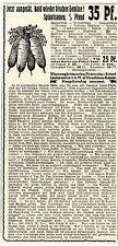 Blumengärtnereien Petersheim Erfurt Gemüse Samen Spinat Historische Annonce 1917