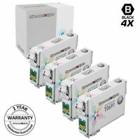 4 T0691 T069 T069120 Black Reman Ink Cartridge for Epson Workforce 610 600 1100