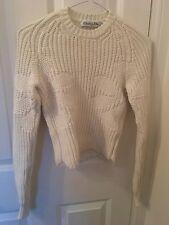 CHRISTIAN DIOR * à peine porté * magnifique blanc en coton côtelé Pull Taille XS