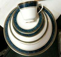 Royal Doulton-5 Piece-Dinner,Salad/Dessert,Bread Plates w/Cup & Saucer-Biltmore