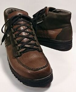 Mephisto Brown Black Leather Lace-Up Hiking Boots Men's US Size 11 *XLNT*