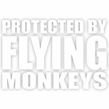 "Protected By Flying Monkeys 4"" Wizard Of Oz Wicked Vinyl Decal Sticker Window"