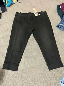 M&s Black Mix Mid Rise Relaxed SLim Jeans Size 24 Reg Bnwt Free Sameday P&p