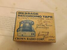 Crown Telephone Valet Message Recording Tape In Box