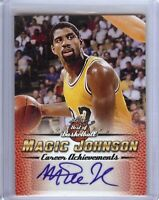 Magic Johnson 2017 Leaf Best of Basketball Career Autograph Lakers #MJ5