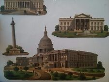 #Original 1800's Victorian Washington Monument White House  Die Cuts