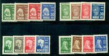 NORWAY #132/161 Famous Norwegians - 4 complete sets, og, LH, VF, Scott $79.50