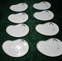 8 pcs Vintage Fukagawa Arita wheat porcelain snack plates hand painted Japan