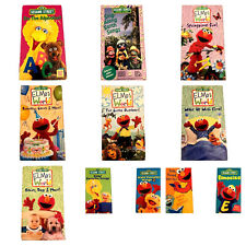 Lot of 11 Sesame Street VHS Video Tapes Elmos World Sing Alongs Elmocize & More