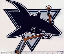"Vintage 1990s San Jose Sharks 11"" Jacket /Jersey Old Logo Patch (sew or iron on)"