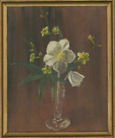 Brian Turner - Framed 20th Century Oil, Jasmine & Christmas Rose