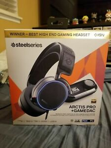 New Seal SteelSeries Arctis Pro+GameDAC Wired DTS Gaming Headset Black PC PS4/5