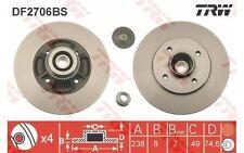 TRW Disco de freno (x2) Trasero 237mm RENAULT MEGANE CLIO 19 THALIA DF2706BS