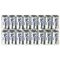 16 x CR123 Energizer 3V Lithium Batteries (CR123A, DL123, 123, EL123, CR17345)
