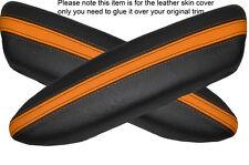 BLACK & Orange 2x PANTHERS PORTA BRACCIOLO IN Pelle Cover Adatta per BMW Mini Cooper 04-06