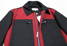 $1128 Italy MAISON MARTIN MARGIELA Quilted Biker Red-Black Jacket 52-IT X-Large