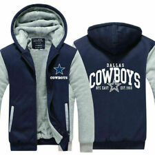 Dallas Cowboys Fans Hoodie Fleece Zip Coat Thicken warm Jacket winter Sweatshirt