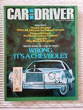 Car & Driver Mar 1976 Corvette L48, L82, Yukon - Mercury Capri - Plymouth Volare