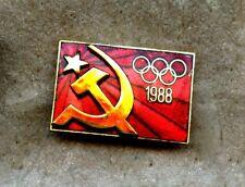 NOC Russia CCCP USSR 1988 Seoul OLYMPIC Games Pin Enamel