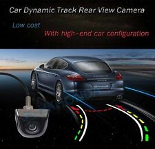 Black Color Car Dynamic Track Trail Trajectory Rear View Reverse CCD Camera Kit