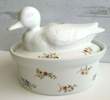 BIA Cordon Bleu Easter Spring Floral Covered Duck Casserole Baking Dish 1 1/2 Qt