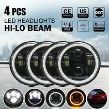 4x 5.75 5-3/4 Round LED Headlight Halo Hi-lo for Chevy Corvette New Yorker Dodge
