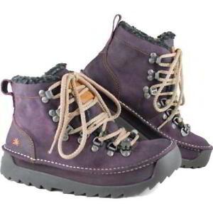 Art Skyline 615 Womens Purple Chunky Vintage Ankle Boots Size 4-8
