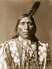 Reprint Vintage Native American Indian Sioux PHOTO LITTLE HAWK Edward Curtis