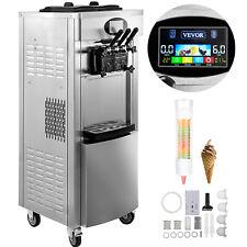 VEVOR Kommerzielle Eismaschine Softeismaschine 2200W Reinigung mit einem Klick