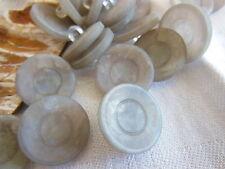 lot 11 boutons gris marbré nacré pied  diamètre 1,7  cm ref 2084
