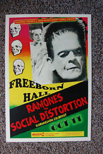 Ramones Social Distortion Concert Tour Poster 1992 UC Freeborn Hall