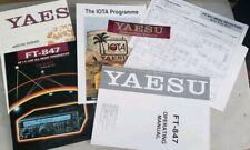 Yaesu FT-847 Operating Manual, Block Diagram, World Amateur Map, Quick Code Set