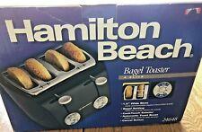 """Nib Hamilton Beach Bagel Toaster 4 Slice #24648, 1.5"""" Slots, Toast Boost"""