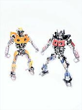 Transformers Bumblebee and Optimus Prime 30cm Metal Art Productions Sculpture