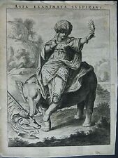 ASIA - XVIII CENT. WOOD CUT