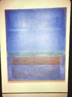 37//No No 19 Slate Blue and Brown on Plum 1958 Mark Rothko Print Poster 36x40