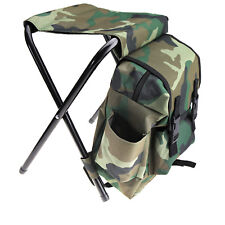 Foldable Outdoor Fishing Chair Stool Backpack Travel Camping Hiking Sporting Kit